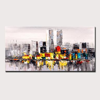 Peinture à l'huile Hang-peint Peint à la main - Abstrait Paysage Moderne Sans cadre intérieur