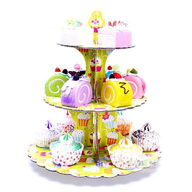 voordelige Feestbenodigdheden-Verjaardag / Festival Feestaccessoires Taartstandaard Prints / Bloem Puur papier Bruiloft