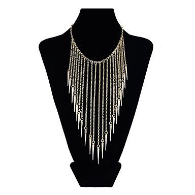 levne Dámské šperky-Dámské Harness náhrdelník Třásně Nadsázka Chrome Zlatá Stříbrná 45 cm Náhrdelníky Šperky 1ks Pro Večerní oslava Festival