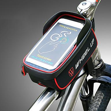 abordables Sacoches de Vélo-Wheel up 1.275 L Sac de téléphone portable Sac Cadre Velo Portable Vestimentaire Facile à Installer Sac de Vélo Nylon Sac de Cyclisme Sacoche de Vélo Cyclisme / iPhone X / iPhone XR Activités