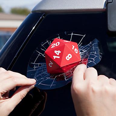 povoljno Automoto-3d crveni auto kocke naljepnice stražnji prozor brisača reflektirajuća naljepnice