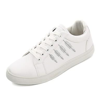 สำหรับผู้ชาย รองเท้าสบาย ๆ หนังเทียม ฤดูใบไม้ผลิ รองเท้าผ้าใบ ขาว / สีดำ / สีดำและสีขาว