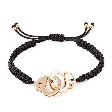 voordelige Herensieraden-Heren loom Bracelet Touw Misdaadpartners handboeien modieus Casual / Sporty Modieus Rips Armband sieraden Goud Voor Dagelijks Uitgaan Werk