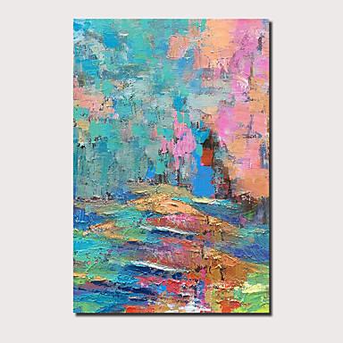Peinture à l'huile Hang-peint Peint à la main - Abstrait Paysage Contemporain Moderne Inclure cadre intérieur