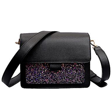 女性用 バッグ PU ショルダーバッグ グリッター素材 ピンク / Brown / カーキ色