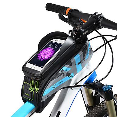 abordables Sacoches de Vélo-ROCKBROS Sac de téléphone portable Sac Cadre Velo 5.8/6.0 pouce Ecran tactile Etanche Trou de casque Cyclisme pour iPhone X iPhone XR iPhone XS Vert Rouge Gris Foncé Vélo de Route Vélo tout terrain