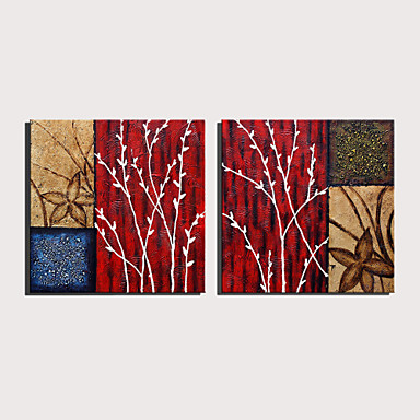 billige Trykk-Trykk Valset lerretskunst Strukket Lerret Trykk - Abstrakt Blomstret / Botanisk Moderne Kunsttrykk