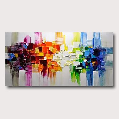 billige Veggkunst-Hang malte oljemaleri Håndmalte - Abstrakt Moderne Inkluder indre ramme