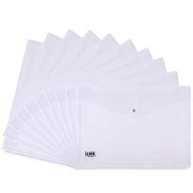 Cooperativa 10 Pcs Deli 8308 File Delle Cartelle A4 Pp Transparente Etichetta Personalizzata #07131716 Vivace E Grande Nello Stile