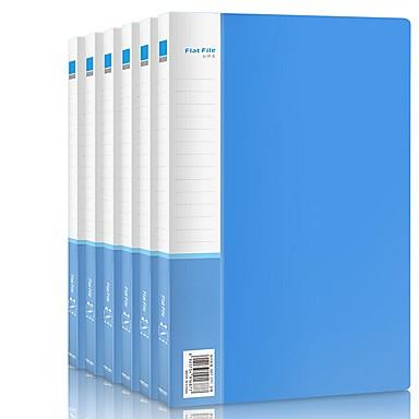 Ambizioso 6 Pcs Deli 33221 File Delle Cartelle A4 Pp Etichetta Personalizzata #07131720