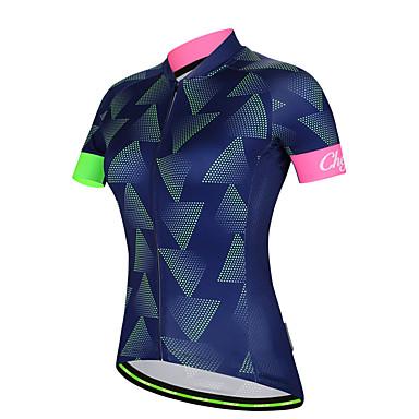 cheji® Women s Short Sleeve Cycling Jersey - Blue Bike Jersey Sports Milk  Fiber Mountain Bike 18c23a209