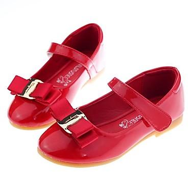 Χαμηλού Κόστους MRLOTUSNEE® Λουλουδάτα φορέματα για κορίτσια-Κοριτσίστικα Παπούτσια PU Άνοιξη / Φθινόπωρο Ανατομικό Χωρίς Τακούνι Φιόγκος για Νήπιο (9m-4ys) Μαύρο / Κόκκινο / Ροζ Ανοικτό / Καοτσούκ