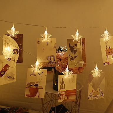 3M Leuchtgirlanden 20 LEDs Warmes Weiß / Weiß / Rot Kreativ / Party / Dekorativ AA-Batterien angetrieben 1pc