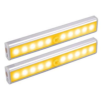 2pcs 1 W 100 lm 10 LED Perler Infrarød sensor Let Instalation Lyssensor LED-kabinetlamper Varm hvid Hvid Hjem / kontor Køkken Soveværelser