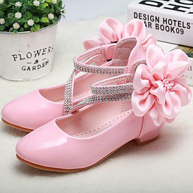 Χαμηλού Κόστους MRLOTUSNEE® Λουλουδάτα φορέματα για κορίτσια-Κοριτσίστικα Παπούτσια PU Άνοιξη / Φθινόπωρο Λουλουδάτα φορέματα για κορίτσια / Tiny Τακούνια για Teens Τακούνια Λουλούδι για Νήπιο (9m-4ys) Λευκό / Ροζ / Γάμου / Πάρτι & Βραδινή Έξοδος / Γάμου