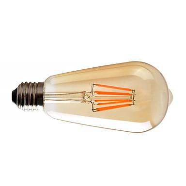 halpa Lamput-1kpl 8 W LED-hehkulamput 720 lm E26 / E27 ST64 8 LED-helmet COB Himmennettävissä Lämmin valkoinen 220-240 V 110-130 V / RoHs
