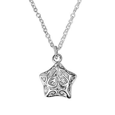 ce76c5b9a35a Mujer Clásico Collares con colgantes Collares de cadena Collar Plateado  Estrella Simple Diseño Único Romántico Dulce