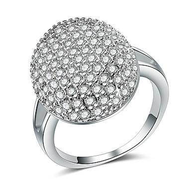 Naisten Statement Ring / Sormus / Micro Pave Ring Cubic Zirkonia 1kpl Hopea Kupari Geometric Shape Ylellisyys / Eurooppalainen / muodikas Party / Lahja / Deitti Pukukorut