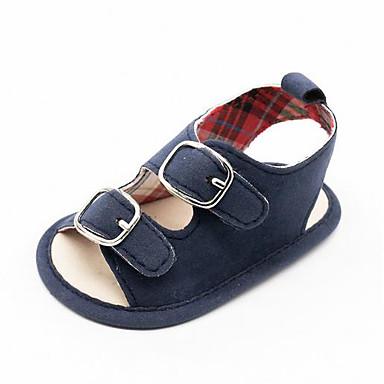 voordelige Babyschoenentjes-Jongens Eerste schoentjes Katoen Sandalen Peuter (9m-4ys) Blauw Zomer