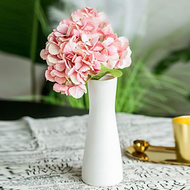 Fleurs artificielles 2 Une succursale Classique Mariage Fleurs de mariage Hortensias Fleurs éternelles Fleur de Table