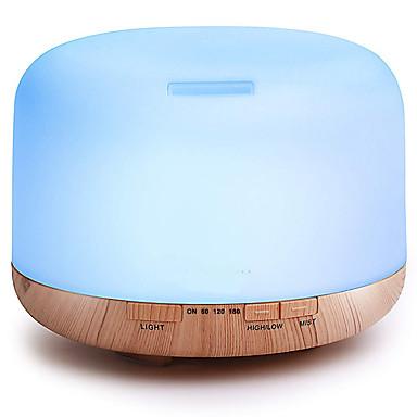 זול מכשירי אידוי לארומתרפיה-מכונת ארומתרפיה ASAKUKI 500ml Premium, Essential Oil Diffuser, 5 in 1 Ultrasonic Aromatherapy Fragrant Oil Vaporizer Humidifier, Timer and Auto-Off Safety Switch, 7 LED Light Colors עמ' חום