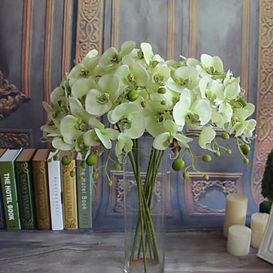 Fiori Artificiali 5 Ramo Classico Europeo Stile Semplice Orchidee Fiori Eterni Fiori Da Tavolo #07155508