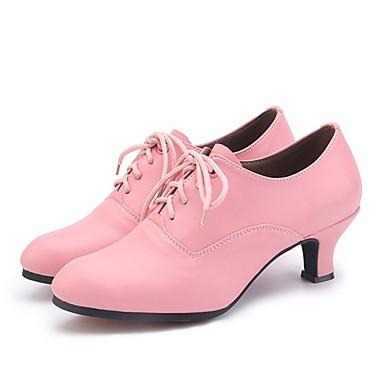 povoljno Cipele za jazz dance-Žene EVA Cipele za jazz dance Štikle Debela peta Moguće personalizirati Srebro / Crvena / Pink / Vježbanje