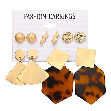 voordelige Oorbellen-Dames meetkundig Oorbellen Set Hars oorbellen Barok Europees Sieraden Goud Voor Dagelijks Bar 5 Pairs