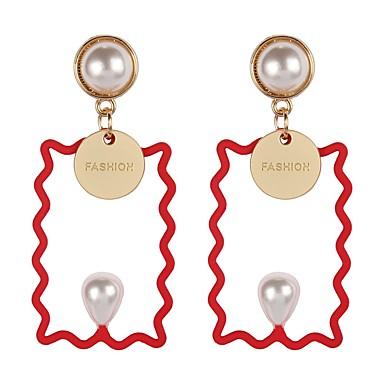 Γυναικεία Κρεμαστά Σκουλαρίκια Σκουλαρίκια Κοσμήματα Μαύρο   Κόκκινο    Πράσινο Για Δώρο Καθημερινά Γαμήλια Τελετή Ημερομηνία Δρόμος 1 Pair 37a21176b32