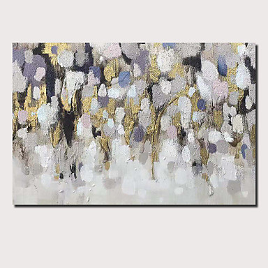 Hang-dipinto Ad Olio Dipinta A Mano - Astratto Paesaggi Contemporaneo Modern Include Interno Della Montatura #07160341 Caldo E Antivento