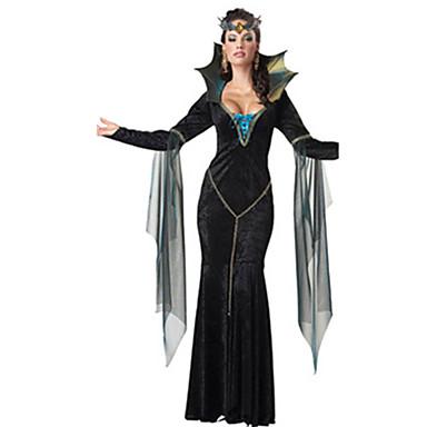 noita Mekot Cosplay-Asut Aikuisten Nainen Cosplay Halloween Halloween Karnevaali Masquerade Festivaali / loma Polyesteria Musta Nainen Karnevaalipuvut Yhtenäinen