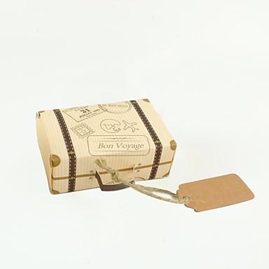 abordables Support de Cadeaux pour Invités-Cubique Papier Kraft Titulaire de Faveur avec Motif / Impression Boîtes Cadeaux - 100pcs