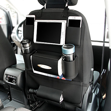 povoljno Dodaci za unutrašnjost auta-univerzalna 3 boje pu kožna auto sjedala leđa za pohranu torbu organizator putne kutije džep slaganje pospremanje djece zaštitnik