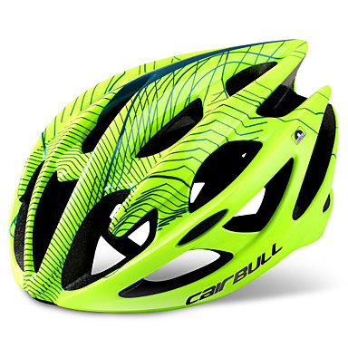 billige Hjelmer-CAIRBULL Voksne sykkelhjelm 21 Ventiler Integrert støpt Lettvekt Insektnett EPS PP (Polypropen) sport Sykling / Sykkel - Rød Grønn Blå Herre Dame Unisex