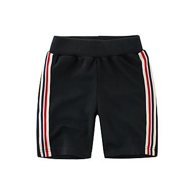 baratos Calças para Meninos-Bébé Para Meninos Listrado Algodão Shorts Preto