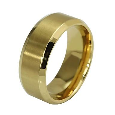 voordelige Herensieraden-Heren Ring Verlovingsring 1pc Zwart Zilver Goud Rose Roestvrij staal Cirkelvormig Eenvoudig Hip-hop bouwkunde Verloving Lahja Sieraden Retro Geloof Goedkoop