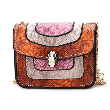 رخيصةأون حقائب أطفال-نسائي حقائب الاطفال PU ألوان متناوبة أحمر / وردي بلاشيهغ / بني