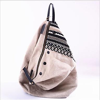 Kadın's Çantalar Polyester sırt çantası Fermuar için Günlük Bahar Siyah / Haki