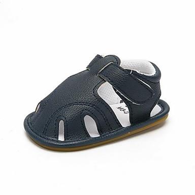 baratos Sapatos de Criança-Para Meninos Sintéticos Sandálias Criança (9m-4ys) Primeiros Passos Branco / Café / Azul Primavera Verão