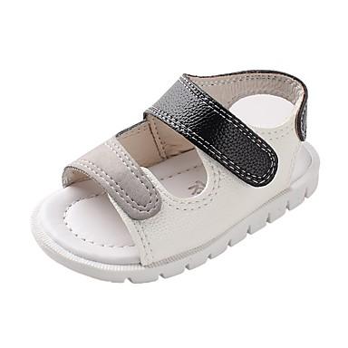 voordelige Babyschoenentjes-Jongens Comfortabel / Eerste schoentjes Imitatieleer Sandalen Zuigelingen (0-9m) / Peuter (9m-4ys) Wit / Rood Zomer