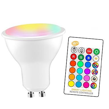 abordables Ampoules électriques-1pc 5 W Ampoules LED Intelligentes 350 lm GU10 E26 / E27 3 Perles LED SMD 5050 Elégant Intensité Réglable Soirée RGBW 85-265 V / RoHs