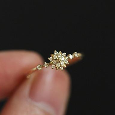 billige Motering-Dame Ring / Løftering / Tail Ring Krystall 1pc Gull 18K Gullbelagt / Østerrisk krystall Rund Enkel / Unikt design / Romantikk Bursdag / Engasjement / Gave Kostyme smykker