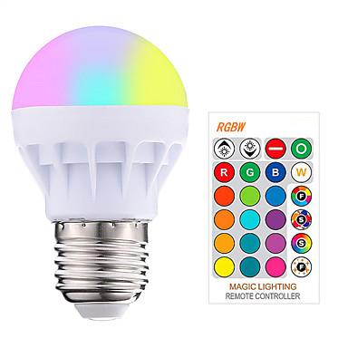 abordables Ampoules électriques-1pc 3 W Ampoules LED Intelligentes 200-250 lm E26 / E27 1 Perles LED SMD 5050 Elégant Intensité Réglable Commandée à Distance RGBW 85-265 V / RoHs