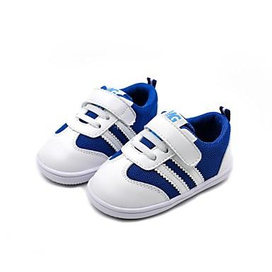 voordelige Babyschoenentjes-Jongens Comfortabel / Eerste schoentjes Microvezel Sneakers Zuigelingen (0-9m) / Peuter (9m-4ys) Zwart / Rood / Blauw Lente
