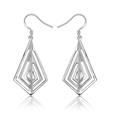 Jewelry & Watches Earrings Silver-plated Wedding Jewelry Geometric Earring Engagement Women Gl