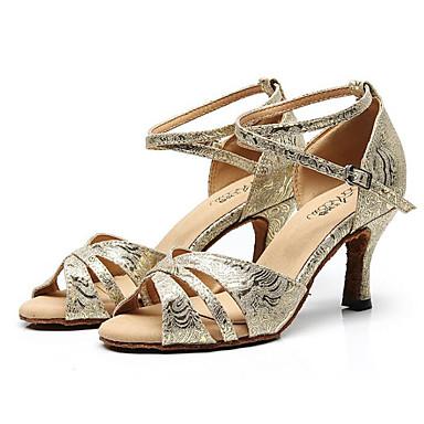 5574e046522c Žene Cipele za latino plesove Sintetika Štikle Tanka visoka peta Plesne  cipele Zlato   Crn   Pink
