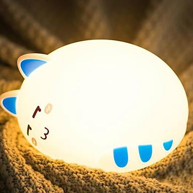 1PC الصمام ليلة الخفيفة أبيض دافئ USB جميل / إبداعي <=36 V
