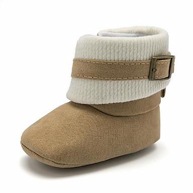 저렴한 9개월-4세 연령대-여아 면 부츠 유아 (9m-4ys) 첫 신발 커피 / 핑크 / 아몬드 가을 겨울