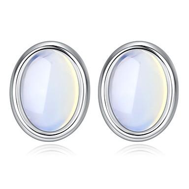 billige Moteøreringer-Dame Syntetisk Opal Øredobber trendy Elegant øredobber Smykker Sølv Til Gave Daglig 1 par