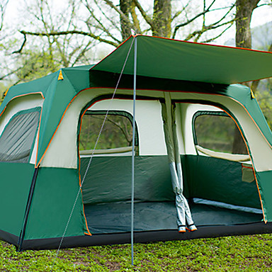 Sheng yuan 8 person Family Tent Outdoor Windproof Rain Waterproof  Breathability Double Layered Poled Camping Tent 2000-3000 mm for Camping /  Hiking /